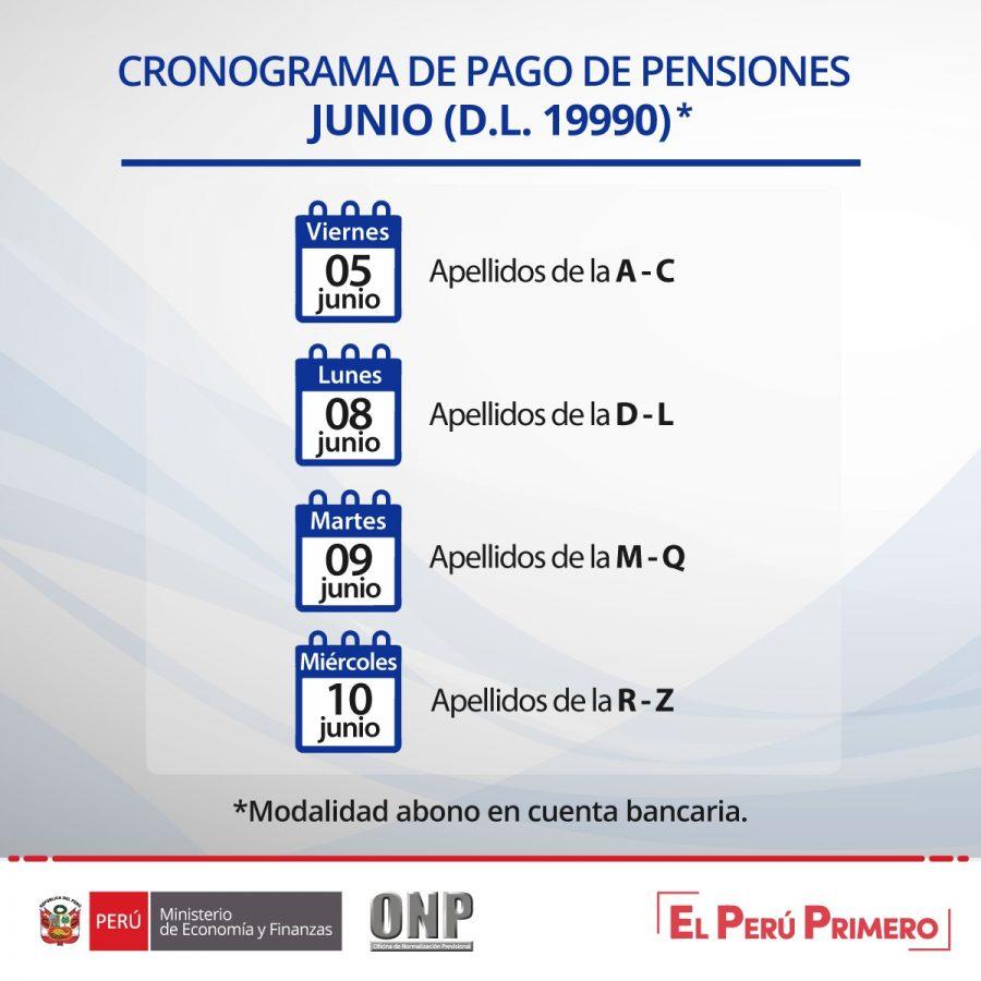 ONP - Cronograma Junio 2020