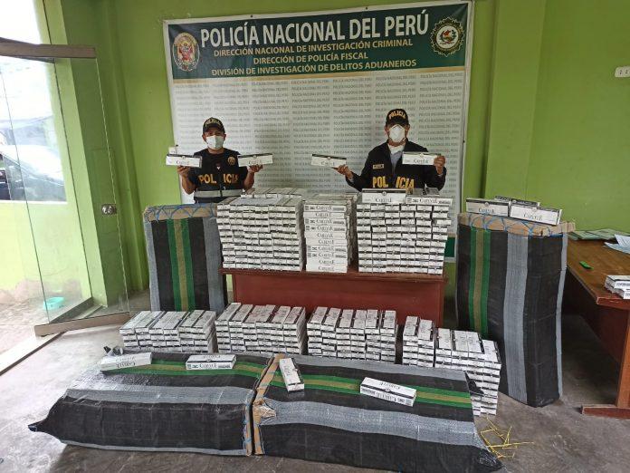 Incautan contrabando de cigarrillos en Ica