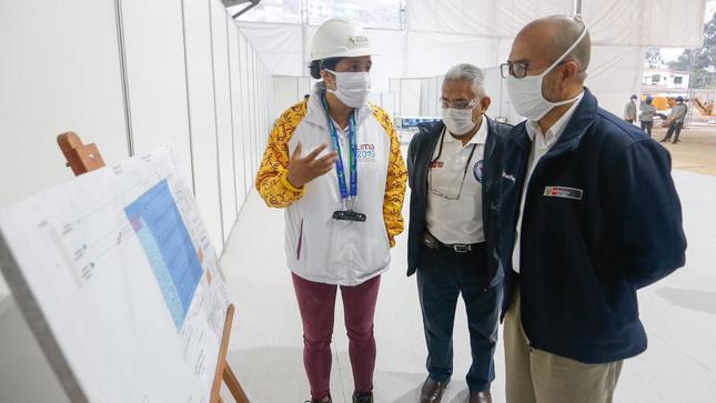 Minsa inspecciona construcción de hospital temporal