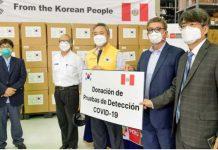 Corea dona 50,000 pruebas serológicas al Perú