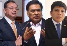 Edgar Alarcón, Javier Velásquez Quesquén y José Marvin Palma Mendoza