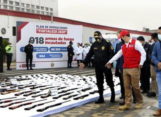Más de 900 armas incautadas durante estado de emergencia