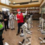 Entregan ventiladores mecánicos a Hospital Central de la PNP