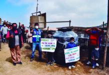 Entregan tanque de agua a familias vulnerables de SJM