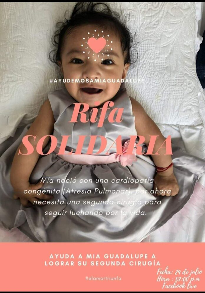 Campaña solidaria a favor de bebé con problemas al corazón