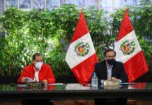 Martín Vizcarra con el jefe del Gabinete Ministerial Walter Martos