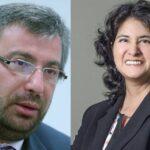Piero Alessandro Corvetto Salinas, jefe de la Oficina Nacional de Procesos Electorales (ONPE) y Carmen Milagros Velarde Koechlin como jefa del Registro Nacional de Identificación y Estado Civil (Reniec).