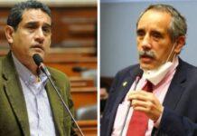 Mesías Guevara y Ricardo Burga