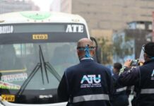 ATU fiscaliza cumplimiento de protocolos de bioseguridad