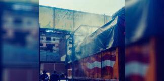 Con sistema de nebulización se desinfectan camiones en Mercado de Frutas