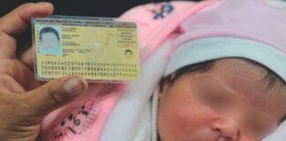 Documento nacional de identidad (DNI) de niñas y niños