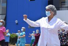 Personal de Salud aleja el estrés del COVID-19 con ejercicios