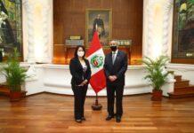 Reunión entre Keiko Fujimori y el presidente interino de la República, Francisco Sagasti