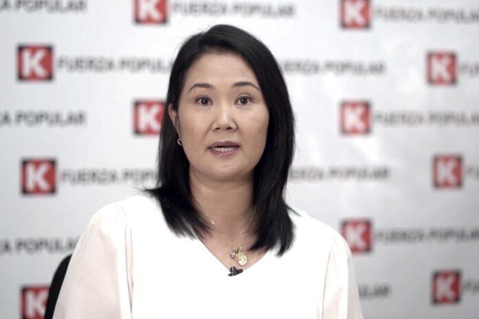 Lideresa de Fuerza Popular (FP), Keiko Fujimori
