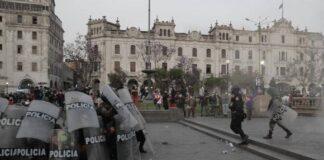 Manifestaciones en el Centro de Lima