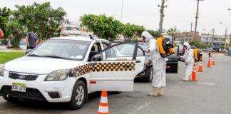 Intensifican campaña de desinfección gratuita de taxis