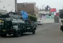 """miembros del """"Comando Basuca"""" patrullaron las calles del distrito"""