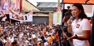 Candidata presidencial de Fuerza Popular, Keiko Fujimori