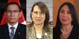 expresidente Martín Vizcarra y las exministras Pilar Mazzetti y Elizabeth Astete
