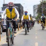 Orientadoras de las ciclovías de Lima