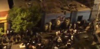 100 personas bailaban y tomaban en velorio