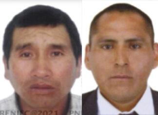 Adán Maldonado Aguilar y Alberto Ccanto Balvín, buscados por la justicia