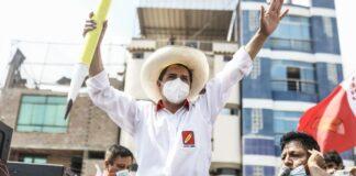 Candidato presidencial de Perú Libre, Pedro Castillo