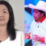Keiko Fujimori y Pedro Castillo