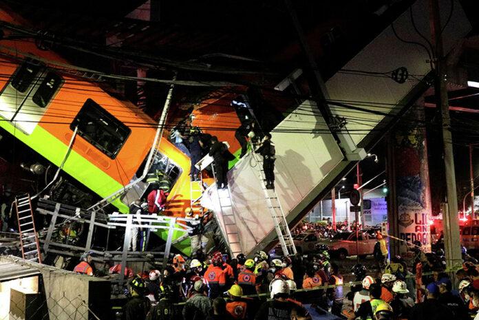 Metro se desploma en México y mueren al menos 24 ocupantes
