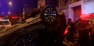 Persecución policial a locos del volante terminó en choque