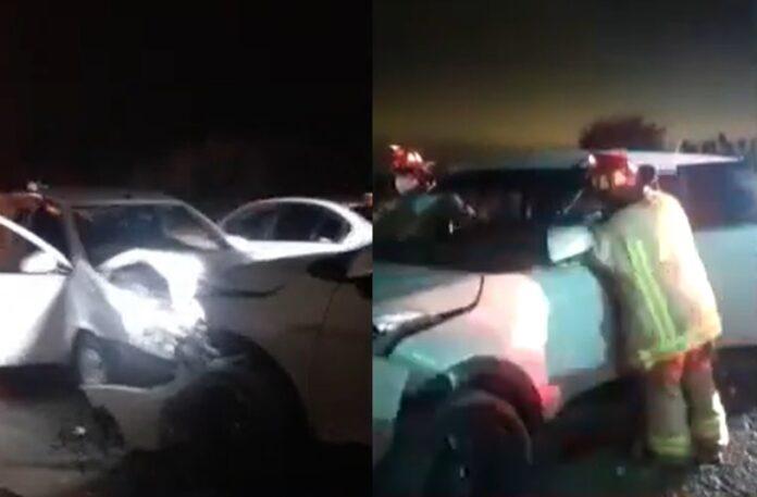 Triple choque provocó conductor que venía a velocidad dejando 9 heridos