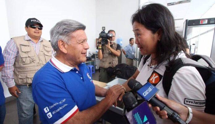 César Acuña y Keiko Fujimori