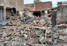 Explosión de una casa dejó cuatro heridos