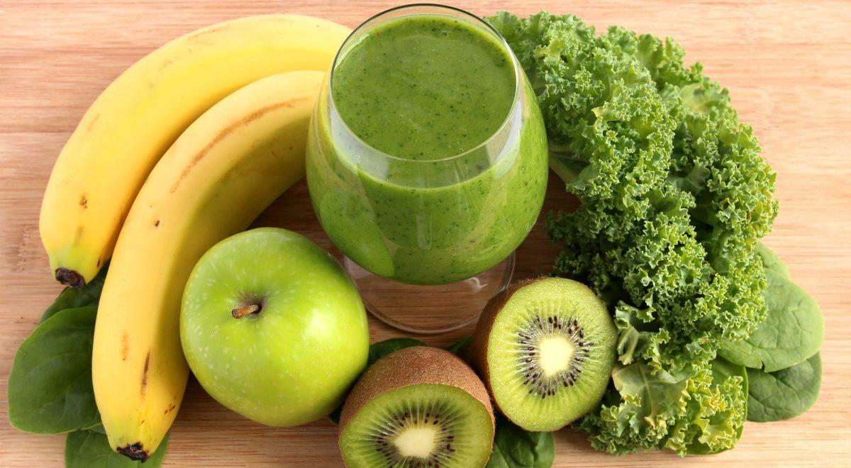 Batido antioxidante de kiwi y plátano