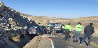 Choque de vehículos dejó cuatro fallecidos