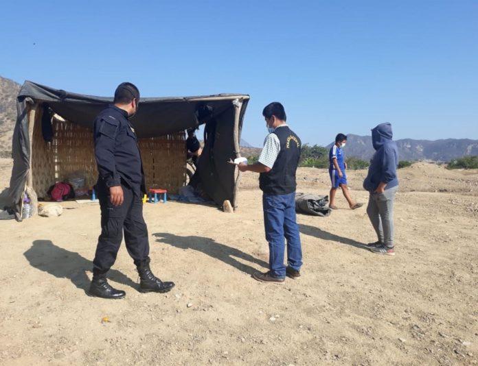 Huaca Chaquiras fue invadida por 50 personas