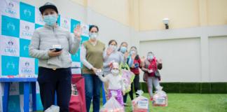 Entregan 200 canastas a familias vulnerables de pacientes COVID-19