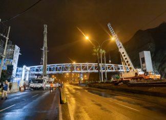 Realizan montaje de segundo puente inclusivo en la Costa Verde
