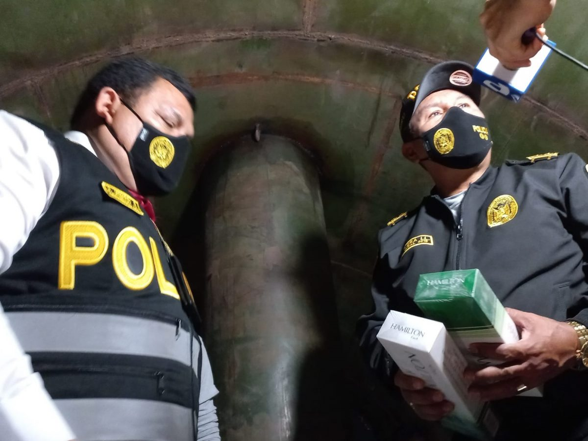 Policía Fiscal halla mercadería de contrabando camuflada en tanque de cisterna