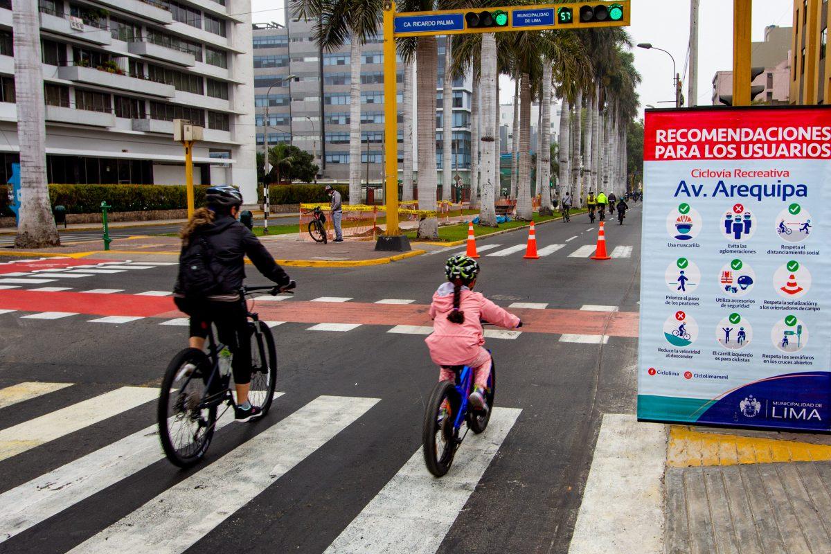 MML inaugura ciclovía en Av. Jorge Basadre en SJL