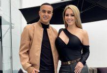 Melissa Klug y el futbolista Jesús Barco se comprometieron