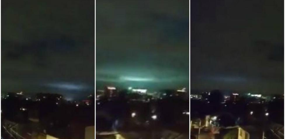 Destellos de luz que aparecieron en el cielo de México durante terremoto