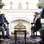 El presidente de la República, Pedro Castillo Terrones, sostuvo una reunión de trabajo con la presidenta del Poder Judicial, Elvia Barrios