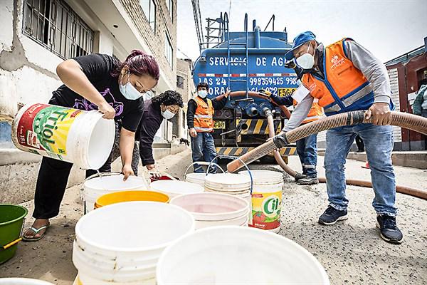 Servicio de agua se restablecerá esta semana en SJL