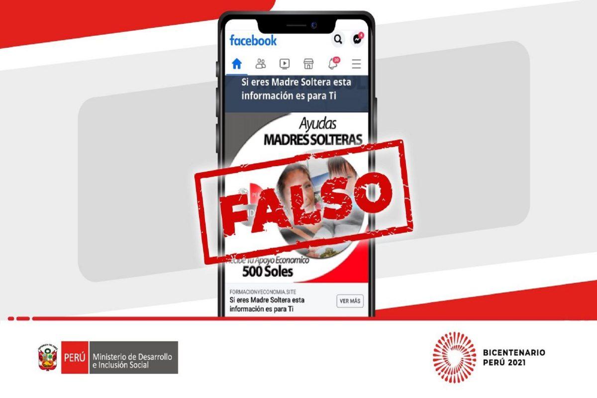 Advierten de anuncios falsos en redes sociales sobre ayudas económicas