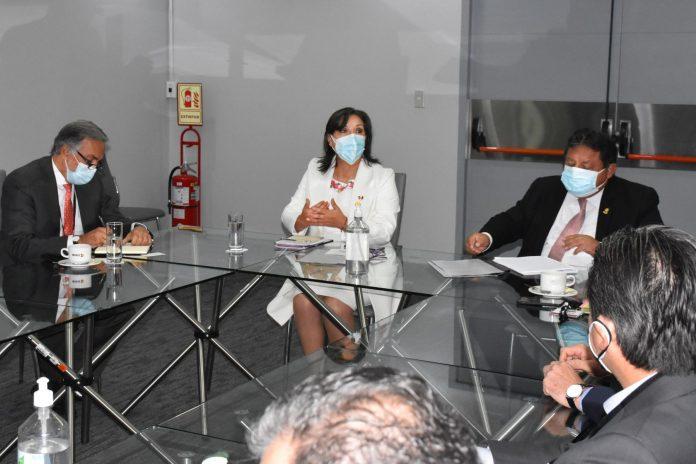Dina Boluarte, se reunió con el presidente de la Asociación de Bancos del Perú (Asbanc), Martín Naranjo