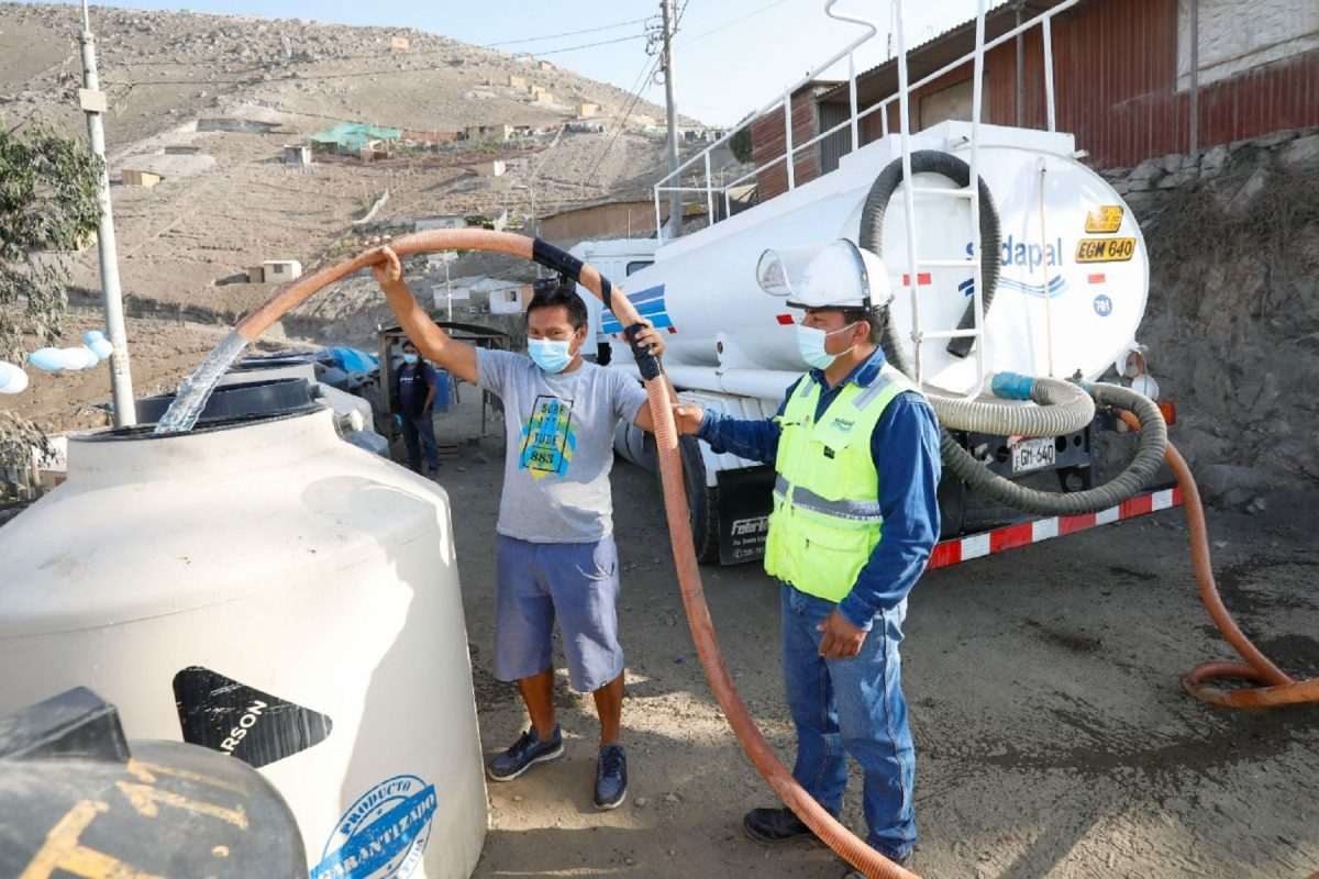 Destinan S/ 38.6 millones para reparto gratuito de agua a familias vulnerables