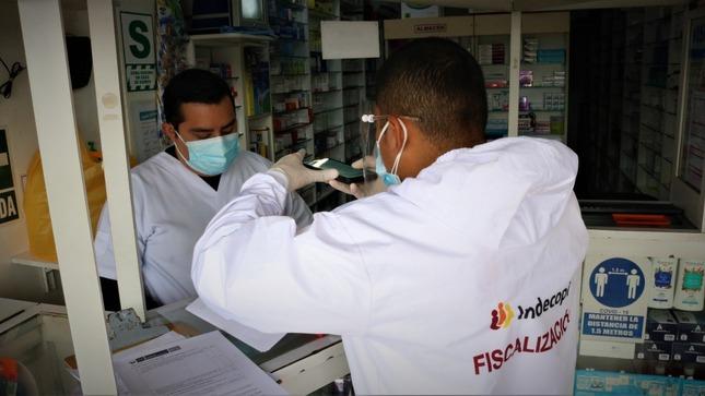 Indecopi fiscaliza más de 100 boticas y farmacias en Lima y Callao
