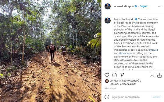 Leonardo DiCaprio advierte sobre la deforestación que afecta a Ucayali