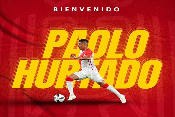 Paolo Hurtado fue anunciado como jugador de la Unión Española